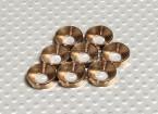 Fraisée Rondelle en aluminium anodisé M5 (Bronze Couleur) (8pcs)