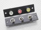 Triple RCA Board Socket (Rouge / / Blanc Jaune) 2pc