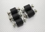 Anti Vibration caoutchouc blocs de montage - M6 x D18 x H16mm - (5pc)