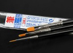 Tamiya Standard Haute Fini 3 Piece Brush Set