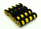 EVA Foam Gimbal Poignée jaune / noir (107x34x22mm) (4pcs)