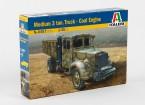 Kit Italeri 1/35 Echelle moyenne 3 Ton Truck Coal Engine Plastic Model
