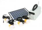 HT-731 Système d'énergie solaire w / Radio FM
