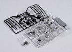 1/10 Échelle Accessory Set Inc Disques de frein / Essuie-glace / Intercooler / Miroirs / Chrome Tailpipes