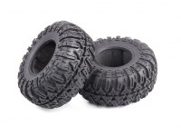 Tri-Pattern Beadlock Crawler Tyres Soft Compound with Foam Inserts (2 tires and 2 inserts)
