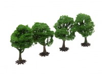 HobbyKing Model Railway Scale Trees with Base 90mm (4 pcs)