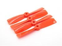 """Dalprops """"Indestructible"""" Bull Nose 4045 Hélices CW / CCW Set Orange (2 paires)"""