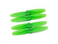 Gemfan T style Polycarbonate 3025 2 Tranchante Green (CW / CCW) (2 paires)
