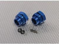Adapteurs Bleu Aluminum Wheel 23mm Hex (2pc)