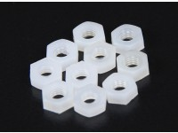 M3 Nylon Nut (10pcs / bag)