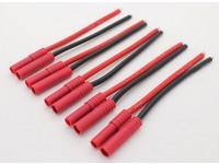 HXT4mm w / 12AWG Silicon Fil 10cm (côté ESC) (5pcs / Bag)