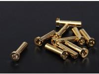 4mm or Connecteurs - Low Profile (10pc)