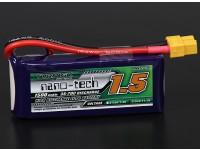 Turnigy nano-tech 1500mah 3S 35 ~ 70C Lipo Paquet