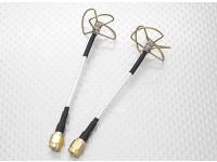 5.8 GHz polarisation circulaire antenne SMA (émetteur et récepteur)