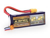 Turnigy nano-tech A-SPEC G2 2200mAh 3S 65 ~ 130C Lipo Paquet