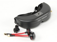FatShark PredatorV2 CE Système compatible Goggle FPV w / Appareil photo et 5.8GHz TX (RTF)