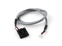 400mm 5 Pin Molex / JR à 3 Plomb Pin Blanc Blindé Connecteur