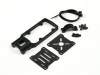 CNC Support moteur pour le bricolage Multi-Rotors 20mm Tube (Noir)