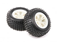 Pneus (1 paire) - H.King Rattler 1/8 4WD Buggy