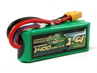 MultiStar Racer série 1400mAh 3S 65C Lipo Pack For FPV Minis (Gold Spec)