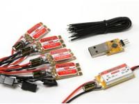 KINGKONG 12A OPTO ESC BLHeli (2-4S) (4pcs) Combo Pack w / UBEC et Programing Adaptateur