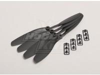 GWS style slowfly Hélice 8x4.5 Noir (CW) (4pcs)