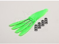 GWS style slowfly Hélice 8x4.5 Green (CCW) (4pcs)