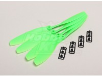 GWS style slowfly Hélice 8x4.5 Green (CW) (4pcs)