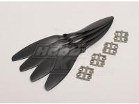 GWS style slowfly Hélice 9x4.7 Noir (CW) (4pcs)