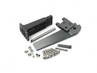 CNC en alliage d'aluminium safran avec l'ensemble de support de gouvernail en plastique