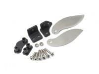 Inox ailettes tour en acier et jeu de support en plastique