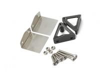 Acier inoxydable flaps et CNC en aluminium support en alliage ensemble