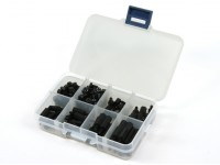 Kit M3 Nylon Spacer Vis Ecrou Assorted w / Box (Black) (180pcs)
