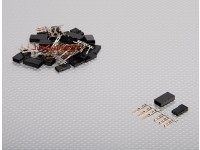 JST-SH Servo Plug-Set (JR) plaqué or (10pairs / set)