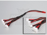 2 Pin JST à 6 x E-Flight Ultra Micro prise de charge Harness