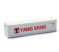 HO Scale 40ft Shipping Container (Yang Ming) side view