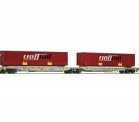 Roco HO Articulated Double Pocket Wagon AAE AG (Crossrail)