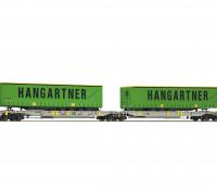 Roco/Fleischmann HO Scale Articulated Double Pocket Wagon AAE