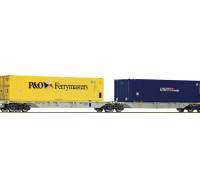 Roco/Fleischmann HO Scale Double Carrier Wagon w/ Containers AAE