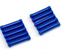 3x25mm alu. poids léger guéridon (bleu)