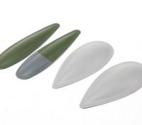 ETO (vert / gris) blistes Spitfire Cannon pour MkV ETO aile, couleurs ETO