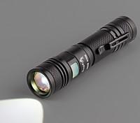 Zoom Led Flashlight (boîte blanche Strap câble du chargeur lampe de poche à la main)