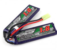 Turnigy nano-tech 1800mah 2S 20 ~ 40C Lipo AIRSOFT Paquet
