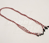 Twisted 80cm Servo Lead Extension (Futaba) 22AWG (5pcs / set)
