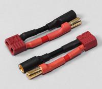 5.5mm Bullet Connecteur Adaptateur Batterie T-Connector (2pcs / sac)