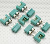Connecteur MPX avec Silver Couleur Ring, mâle et femelle (5pairs)