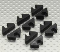 Air Line / Ligne de carburant / Câble clip Tidy pour 5mm DO (10pc)