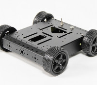 Aluminium 4WD Robot Châssis - Noir (KIT)