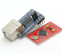 Kingduino Pro Mini Microcontroller 3.3V / 8MHz w / adaptateur USB Mini