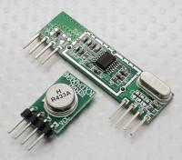 433MHz Superheterodyne 3400 émetteur RF et le récepteur